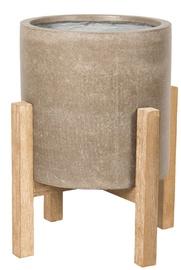 Home4you Sandstone Flowerpot 72427 36.5x36.5xH45.5cm Brown
