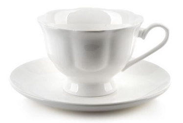 Mondex Cups With Saucer White 12pcs