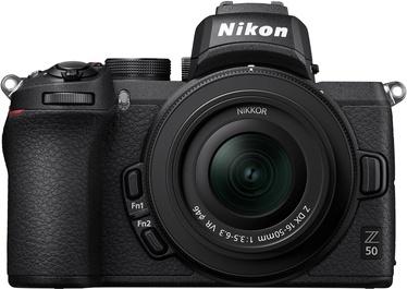 Nikon Z50 Nikon Z50 + Nikkor Z DX 16-50mm f / 3.5-6.3 VR + FTZ Connector Adapter