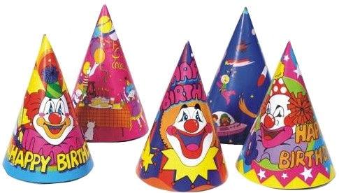 Pap Star Happy Birthday Hats 5 pcs