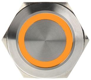 DimasTech Push Button 25mm Silverline Orange