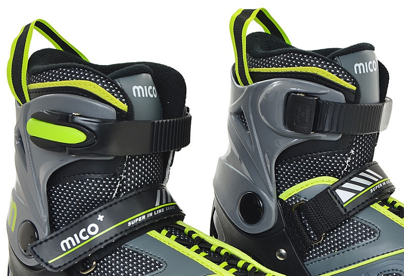 Rulluisud Mico Plus Flash Boy Grey/Green, 29-32