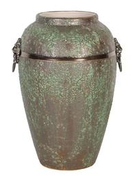 Home4you Leon Ceramic Vase 30cm Antique Green