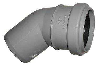 Põlv Wavin 50 mm, 45°, PVC, hall