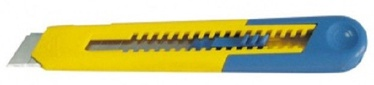 Proline 9mm Retractable Knife Blue/Yellow