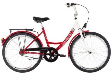 """Jalgratas Kenzel Monika, valge/punane, 17"""", 26"""""""