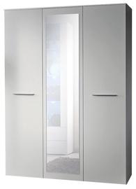ASM Big Wardrobe w/ Mirror White Matt