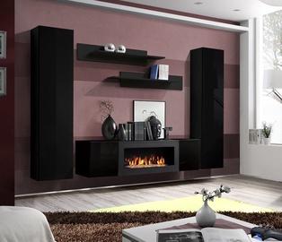 ASM Fly M1 Living Room Wall Unit Set Black
