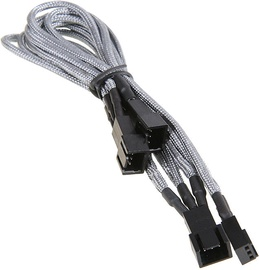 BitFenix 3-Pin to 3 x 3-Pin Splitter for Fans 60cm Silver/Black