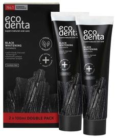 Зубная паста ECODENTA Black Whitening 2x100ml