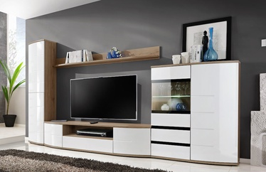 ASM Ontario II Living Room Wall Unit Set White/San Remo Oak