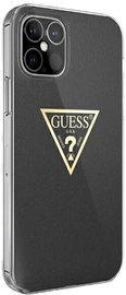 Guess Metallic Collection Back Case For Apple iPhone 12 Mini Black
