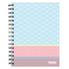 Herlitz Spiral Notepad A4/80p Pastel Blue