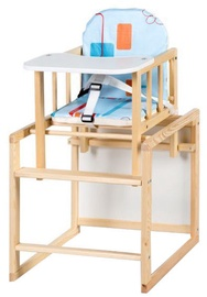 Klups Highchair AGA Natural/Blue