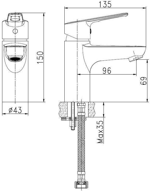 Standart Bora BOSTY40B Faucet Chrome