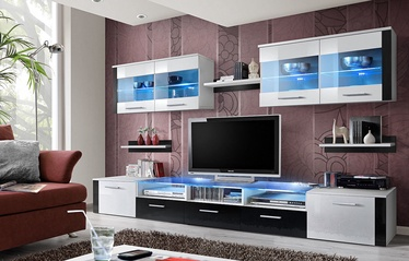 ASM Zoom Living Room Wall Unit Set White/Black