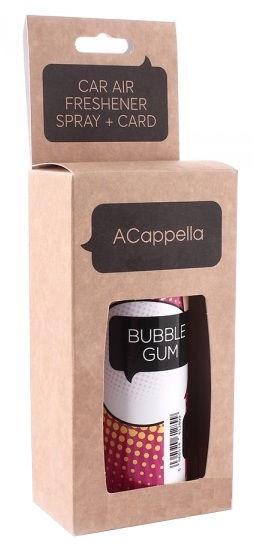 "ACapella Car Air Freshener 2in1 Spray Plus Pendant Card ""Bubble Gum"" 50ml"