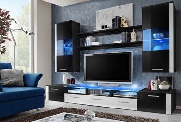 ASM Fresh Living Room Wall Unit Set Black/White