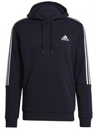 Adidas Essentials Fleece 3 Stripes Hoodie GK9584 Blue M