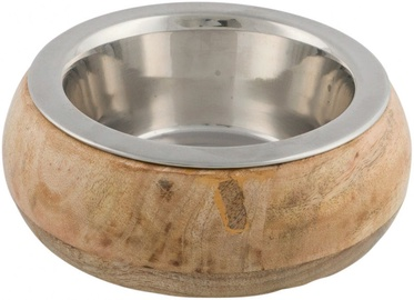 Trixie Stainless Steel Bowl with Wooden Holder 450ml