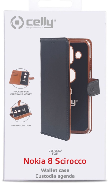 Celly Wally Case For Nokia 8 Sirocco Black