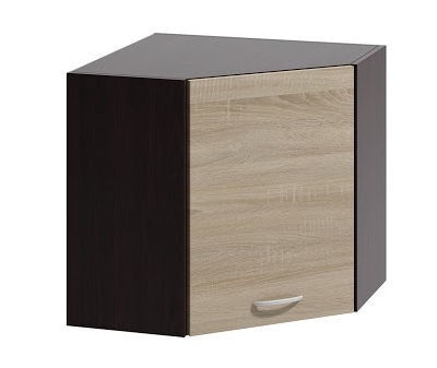 Верхний кухонный шкаф WIPMEB Livia LV-05/G60 N Sonoma Oak, 600x600x575 мм