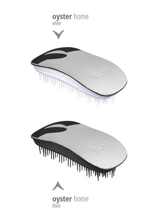 Ikoo Metallic Home Brush Oyster White