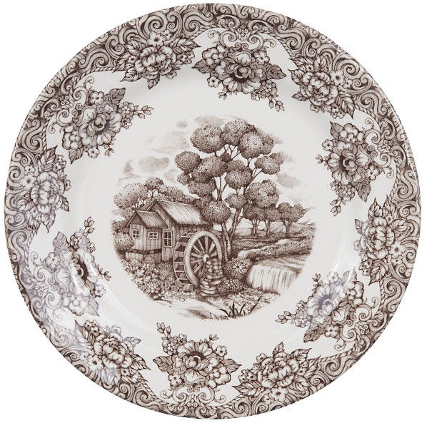 Claytan Water Wheel Dessert Plate 20.7cm Brown