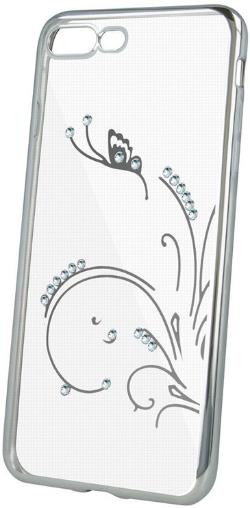Beeyo Glamour Series Flying Back Case For Huawei Y5 2018 Transparent/Silver