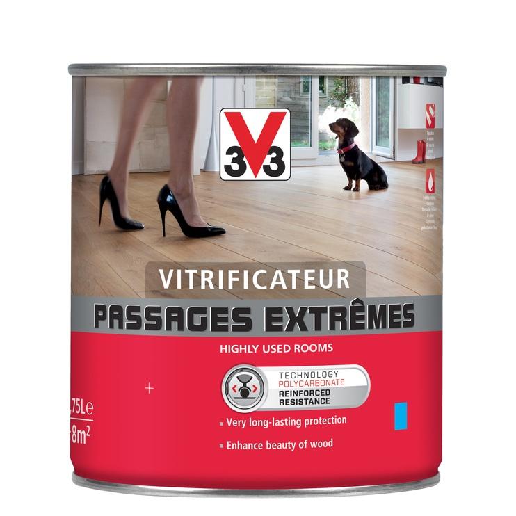 Põrandalakk V33 0,75 l, värvitu poolmatt