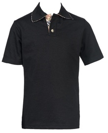 Bars Mens Polo Shirt Black 22 140cm