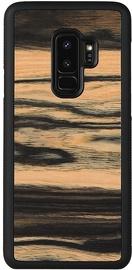 Man&Wood White Ebony Back Case For Samsung Galaxy S9 Plus Black