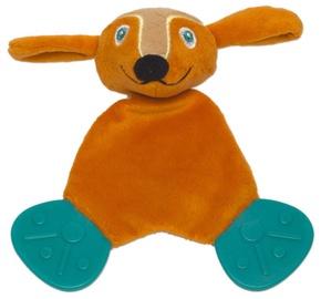 Oops Comforter Teething Toy Dog Orange