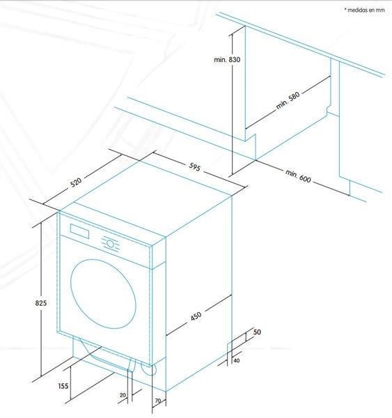 Integreeritav pesumasin Edesa EWF-1480-I