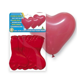 SN Balloons Red Hearts 8pcs 5117-05