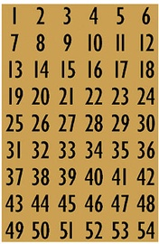Herlitz Stickers Numbers Gold