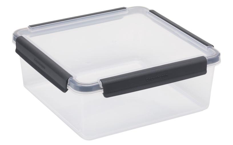 Plast Team Copenhagen Food Storage Box 22x22x8.5cm 2.5l Grey