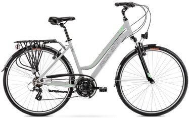 """Велосипед Romet Gazela 1 Light Gray/Green 2021, 19"""", 28″"""