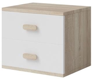 Ночной столик Idzczak Meble Smyk III 22 White/Sonoma Oak