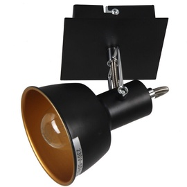 Rainer Wall Lamp E14 40W Black/Gold