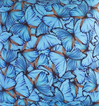 Home4you Tablecloth Holly 43x116cm Morpho Butterfly 802