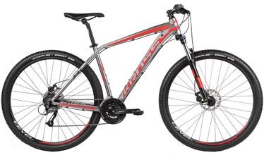 Jalgratas Kross Level B1 M Graphite Red Black Glossy 17