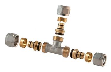 TDM Brass Demountable Threaded Tee 16x16mm 1445E