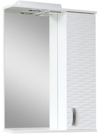 Sanservis 3D-55 Cabinet with Mirror White 56x86.5x17cm