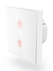 Hama WiFi Touch Wall Switch Flush-mounted White