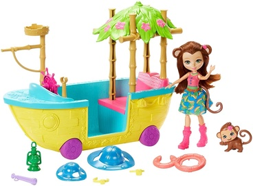 Nukk Mattel Enchantimals Junglewood Boat GFN58