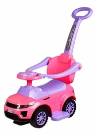 Funikids Sport Car Ride On With Holder And Sound Light Pink
