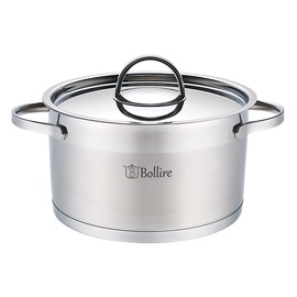Bollire BR-2304 Casserole With Lid 24cm 5.5l Silver
