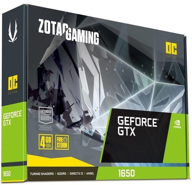 Zotac Gaming GeForce GTX 1650 OC 4GB GDDR5 PCIE ZT-T16500F-10L