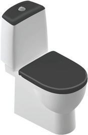 WC-pott SANITA Lux Best Black Duroplast Soft Close White, 340x640 mm